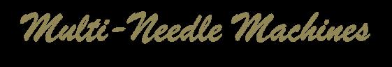Multi-Needle Embroidery Machines