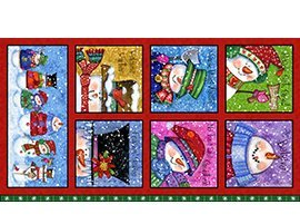 Quilting Treasures Snow Friends-Panel