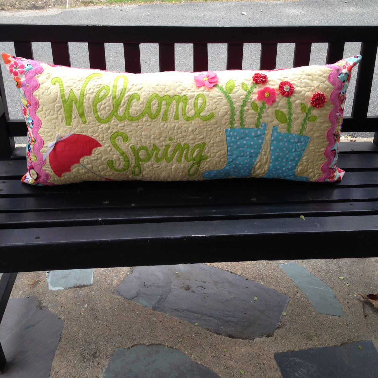 Welcome Spring Bench Pillow Kit