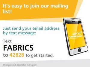 Sign up for our E-Newsletter by text