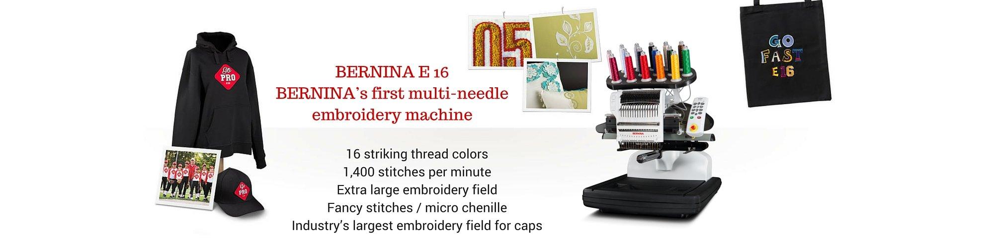 BERNINA E16 | Lola Pink Fabrics