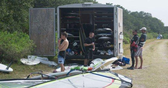 trailer with rental gear