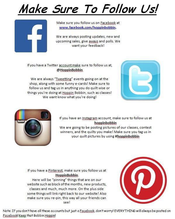how to say follow us on social media