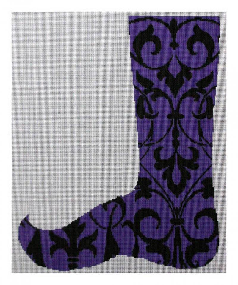 DH3775 - Purple & Black Baroque Jester