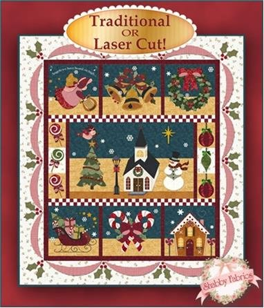 Free Quilt Pattern: Holiday Lights Christmas Stocking from