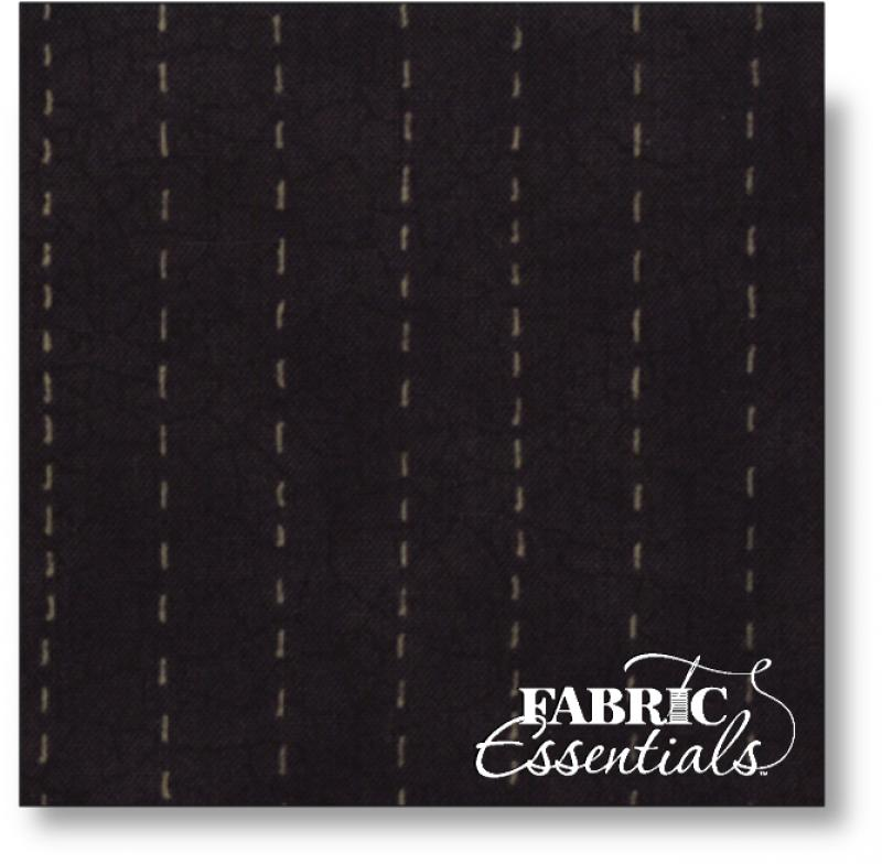 Moda - Full Circle - Run Stitch - 6014-17 Black - BUY THE BOLT - 1 Yd 3 in