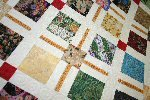 Background Quilting on Flying Geese