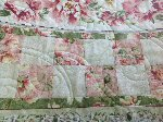 Heirloom Background Quilting on Silk Radiance