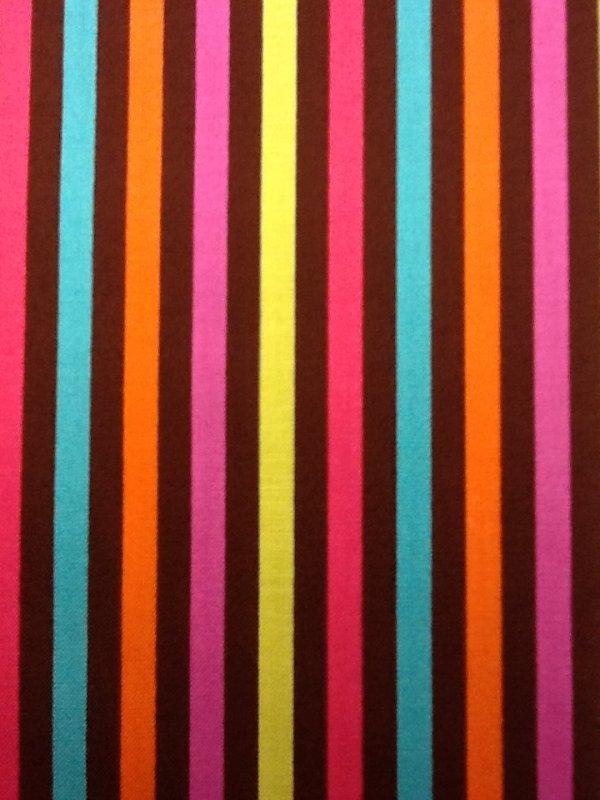 Zig Zag Pink Teal Orange Cute Colorful Bright Stripe Zig