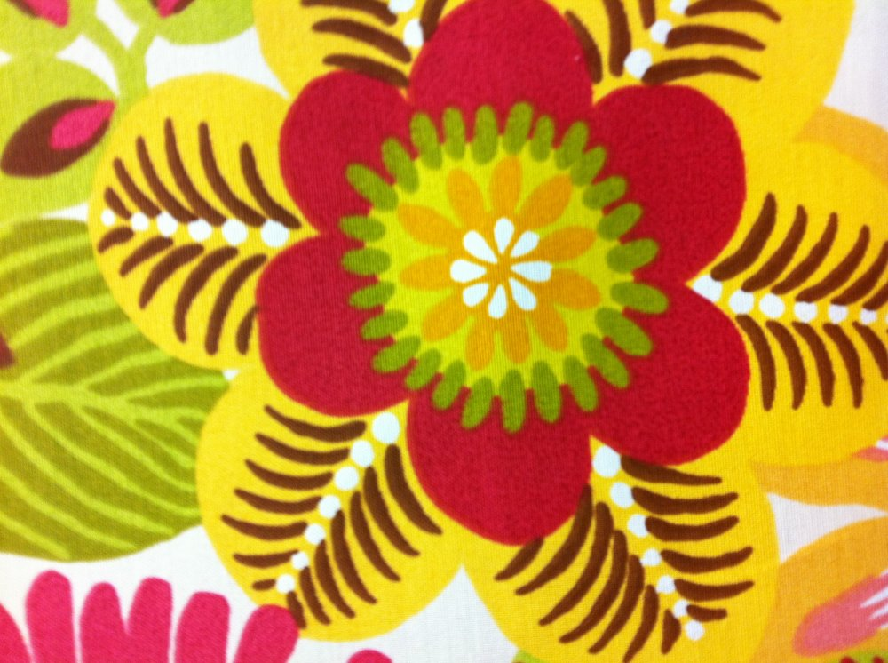 ... Floral Large Scale Outdoor Fabric Famous Maker Print Acrylic Fabric