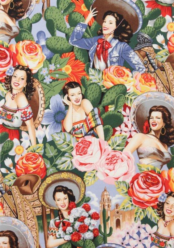 Las senoritas alexander henry mexican calendar girl mexico pin up
