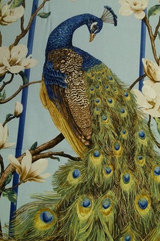 Bird Fabric Panel Panel Asia Bird Feather