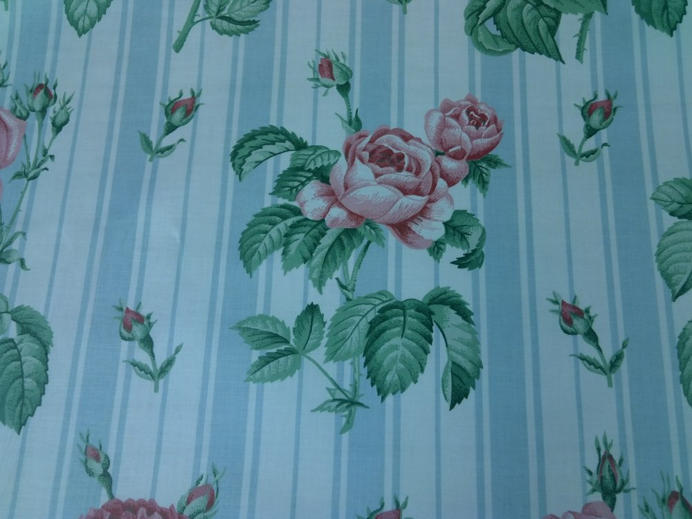 Shabby chic style french country linen fabric drapery fabric cv100 os - Chintz Polished Cotton English Garden Shabby Chic Style