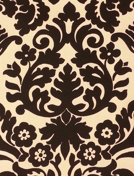 Damask print black cream waverly essence damask sun