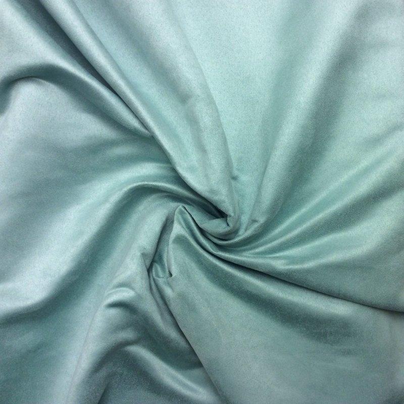 Seafoam aqua blue green suede fabric drapery fabric upholstery fabric