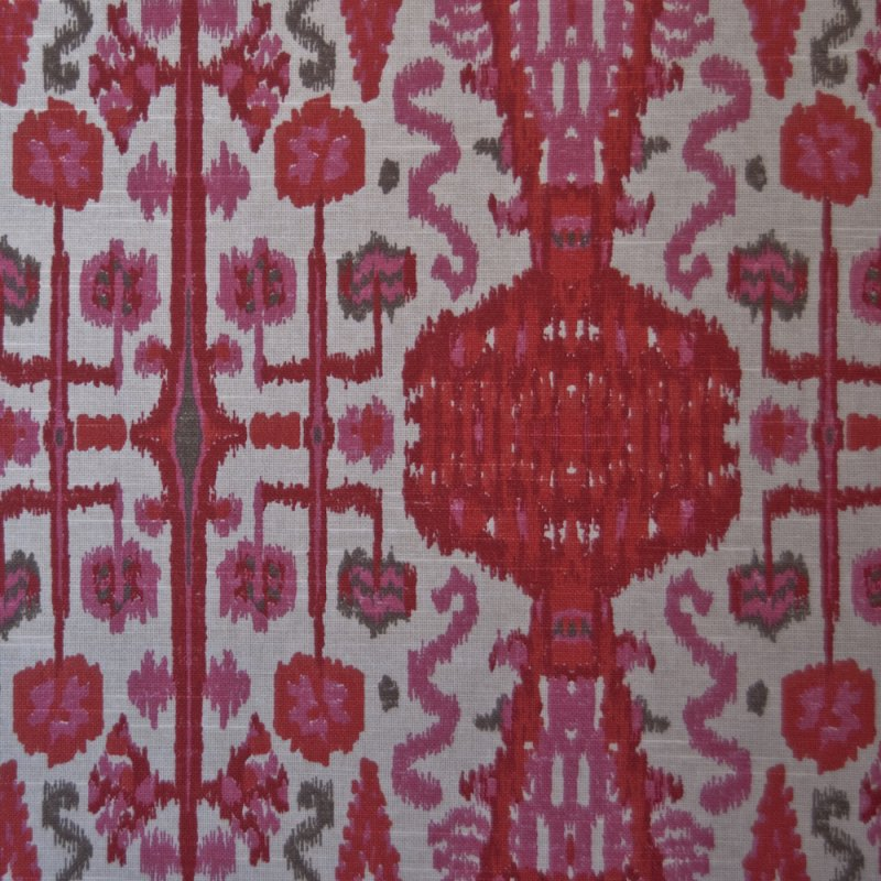 ikat bombay pink printed by the yard upholstery home decor fabric