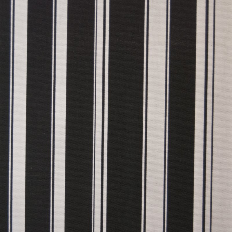 Or128 Black And White Nautical Stripe By The Yard Drapery