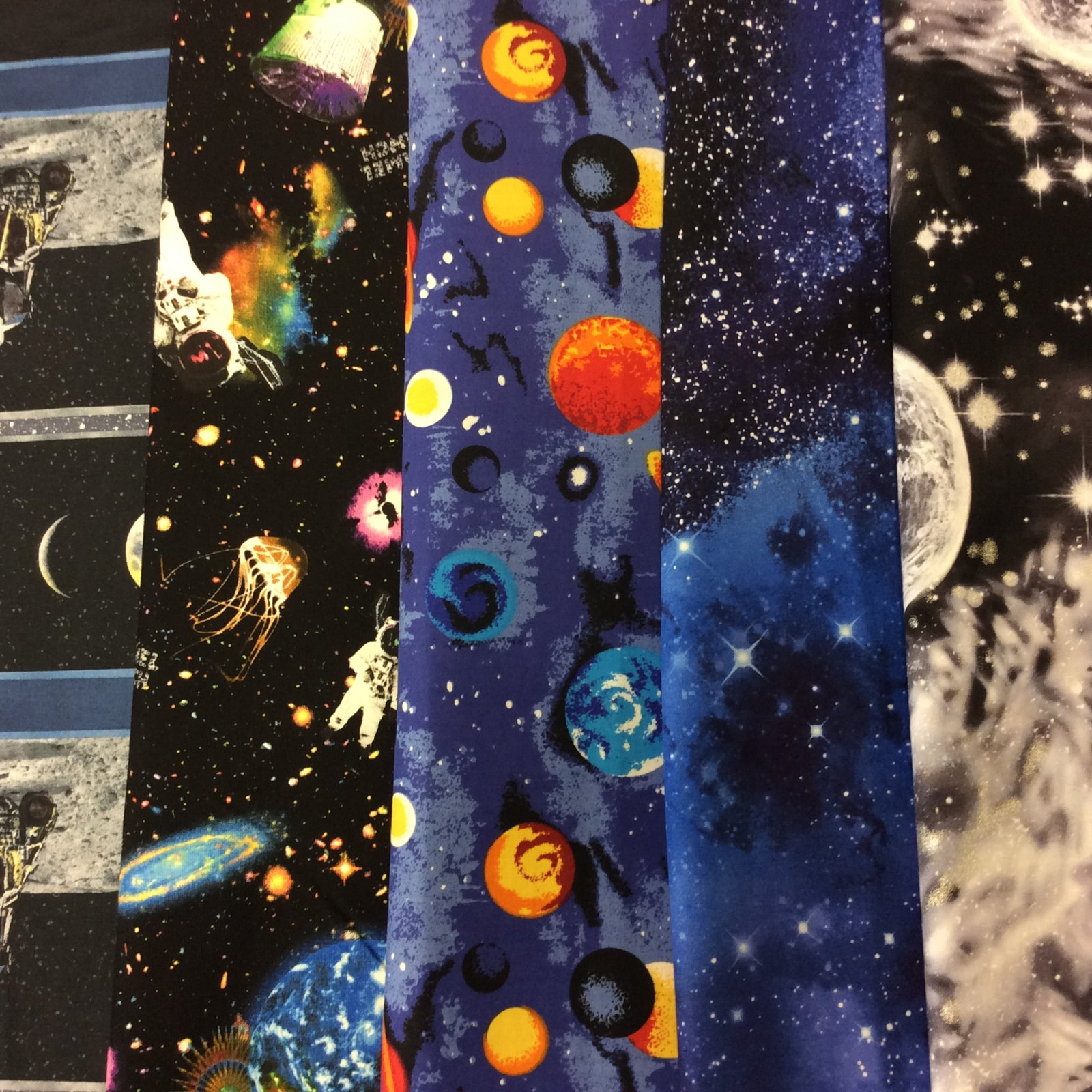 Quilting cottons for Outer space material