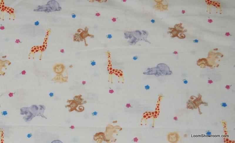 149 retro baby theme nursery jungle animals lion elephant for Nursery cotton fabric