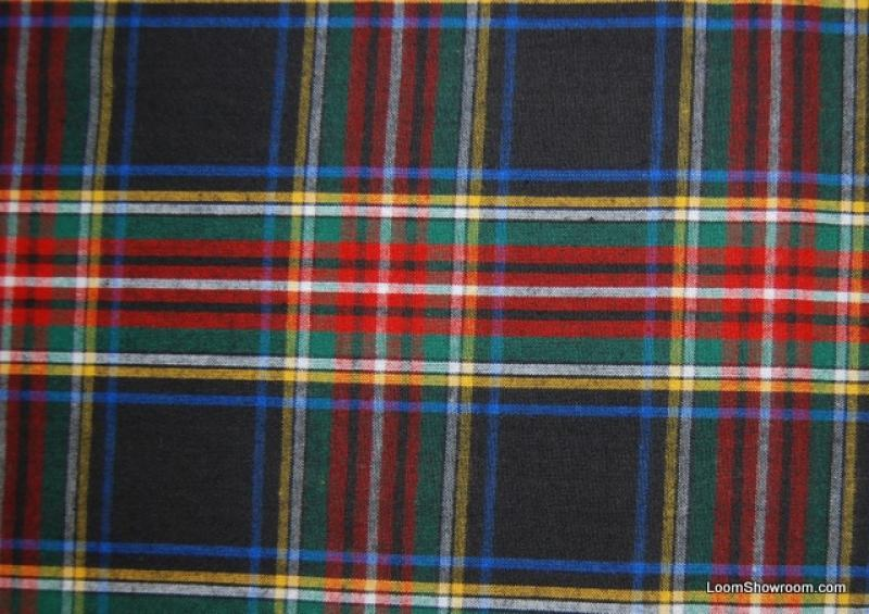 Plaid Traditional Red Brown Green Blue White Stripe Plaid