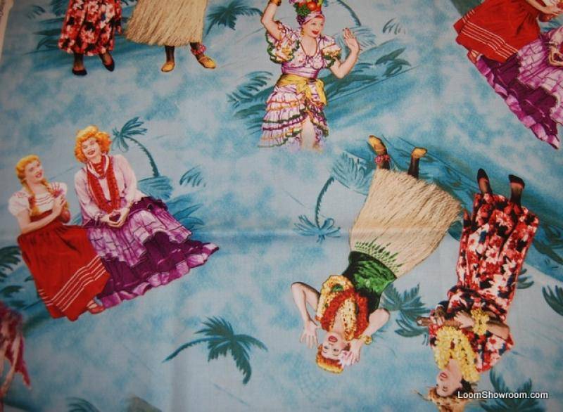 I Love Lucy  Lucille Ball & Desi Arnez Retro Television Comedy Cotton Fabric Quilt Fabric AC072