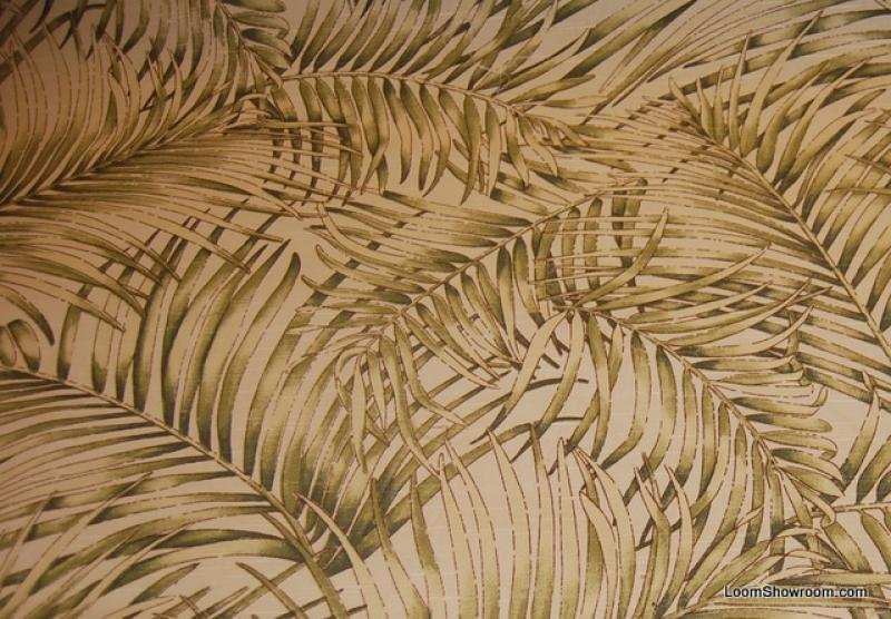 On Ivory Background Textured Heavy Weight Cotton Fabric Drapery Fabric