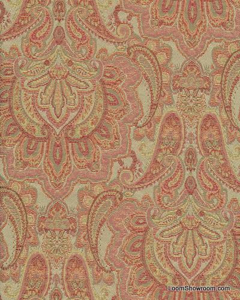 Hd380 Taj Mahal Heavy Paisley Brocade Woven Cotton Fabric