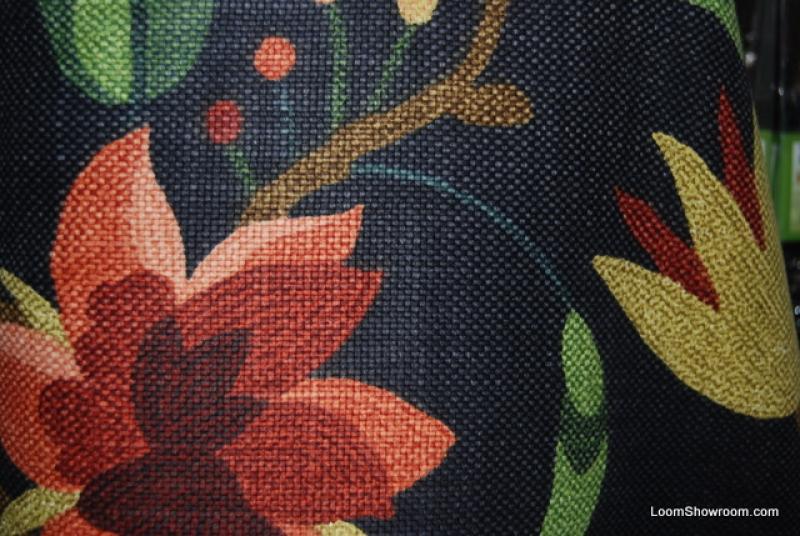 HD453 Scandinavian Modern Bird Floral Navy Background
