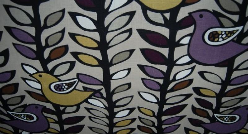 HD711 Mid Century Modern Scandinavian Style Bird Tree Silouhette ...