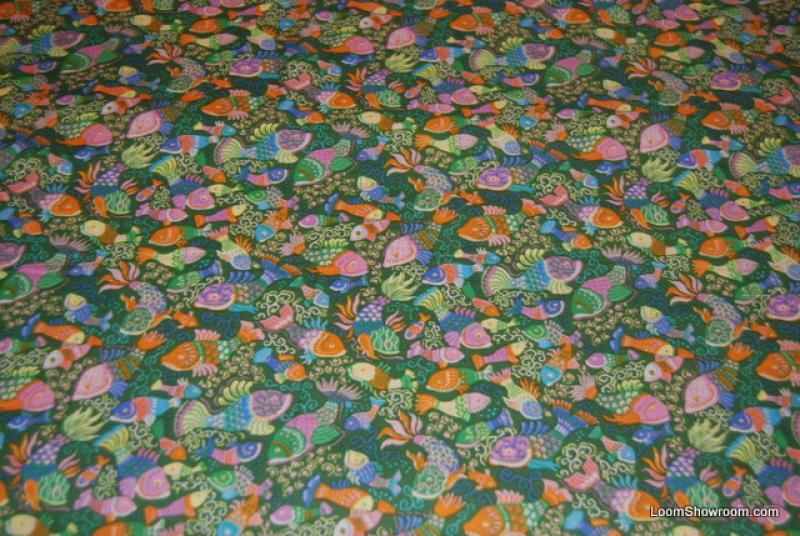 L14 matisse fish ocean sealife cotton fabric quilt fabric for Fish fabric for quilting