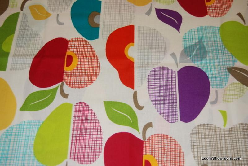 Apple Retro Scandinavian Style LM39 Fruit Cotton Fabric Quilt Fabric