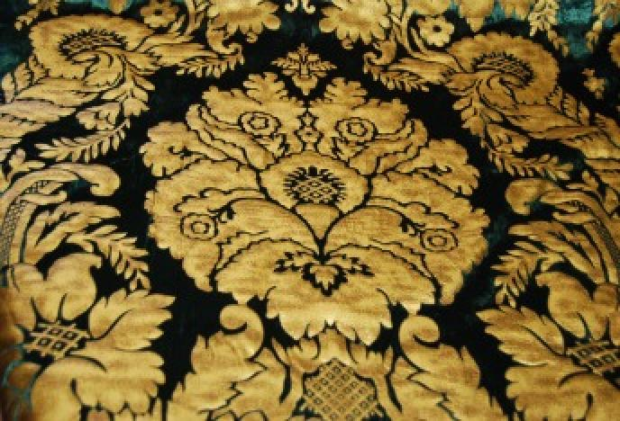 Osts108 Regency Silk Cut Velvet Leatherized Damask
