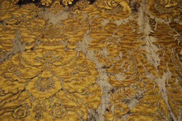 Osts109 Regency Silk Cut Velvet Leatherized Damask