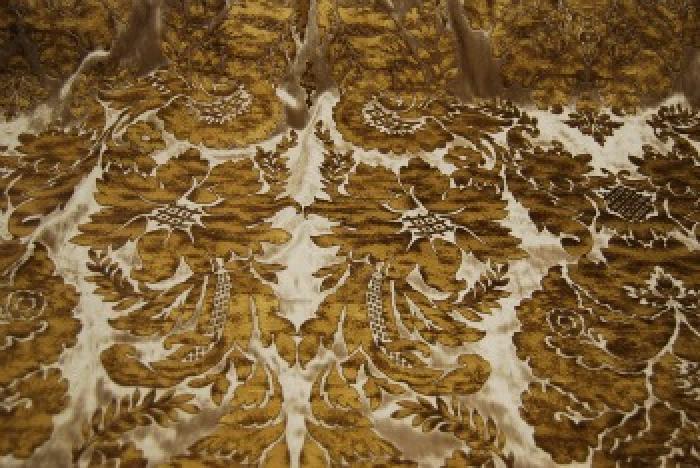 Osts114 Regency Silk Cut Velvet Leatherized Damask