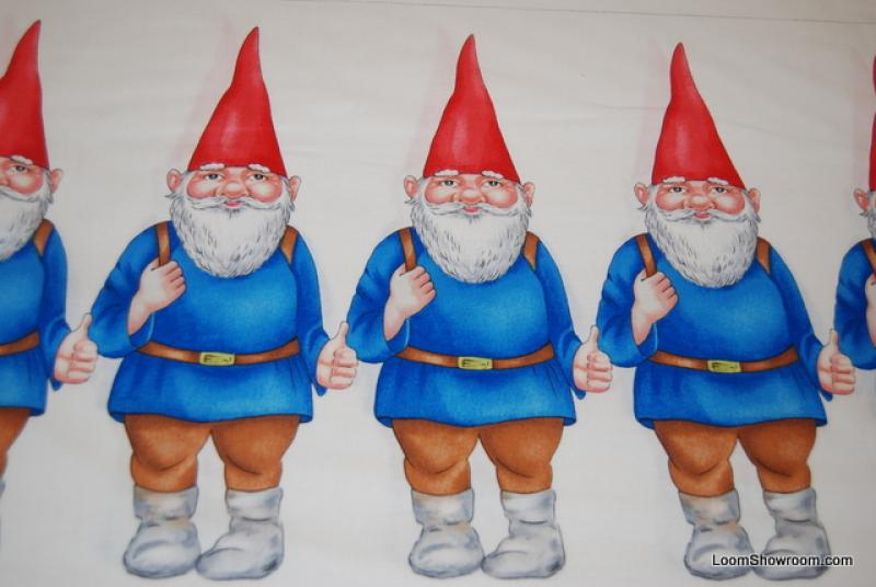 Gnomes Large and Small Baby Gnome Panel Scandinavian Gnomeo Cotton ...