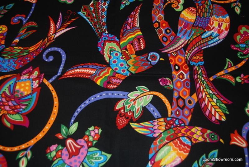 R31 Mexico Folk Art Bird Talavera Alexander Henry Multi