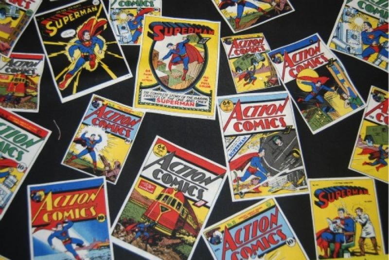 Comic Book Cover Material : T superman scatter print retro action comic book covers