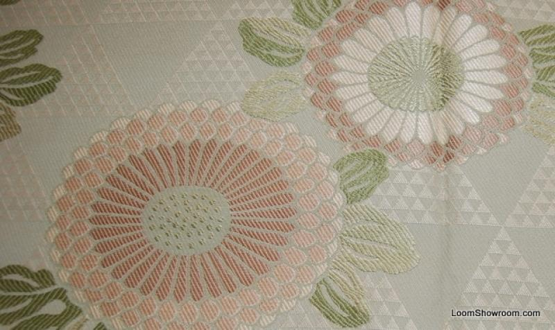 Tapestry Asian Style Flower Magnificent Pale Sage Green