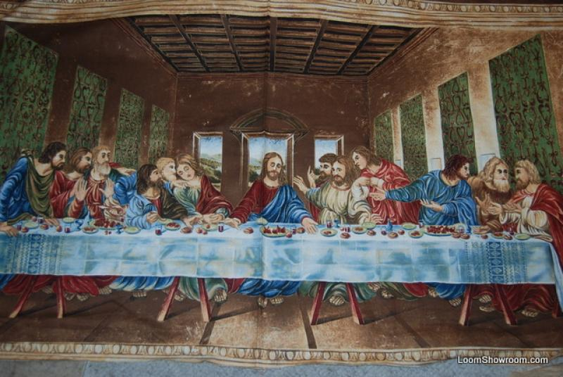 The Last Supper Religion Inner Faith Jesus and the Disciples Cotton fabric Quilt fabric Panel WG05