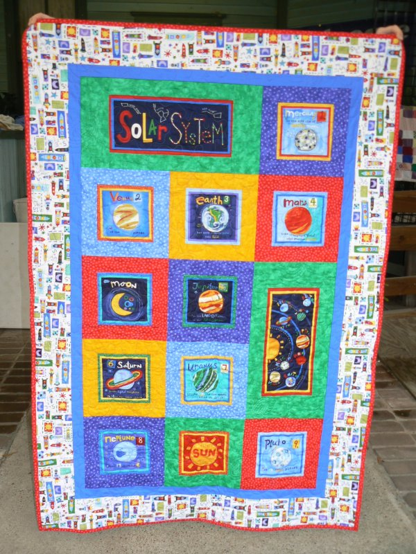 Solar system quilt kit for Solar system fabric panel