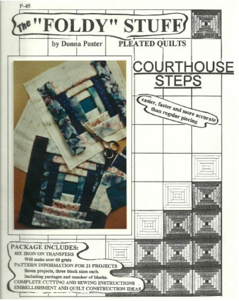 The Foldy Stuff Pleated Courthouse Steps Quilt Pattern