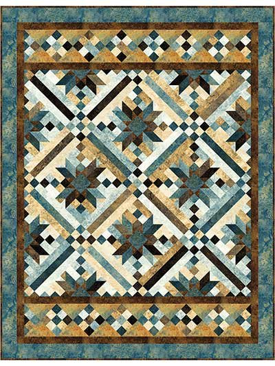 Quilt Patterns For Stonehenge Fabric : Smokey River - Quilt Kit, Pattern by Whirligig Design featuring Northcott Stonehenge Fabric - 010916