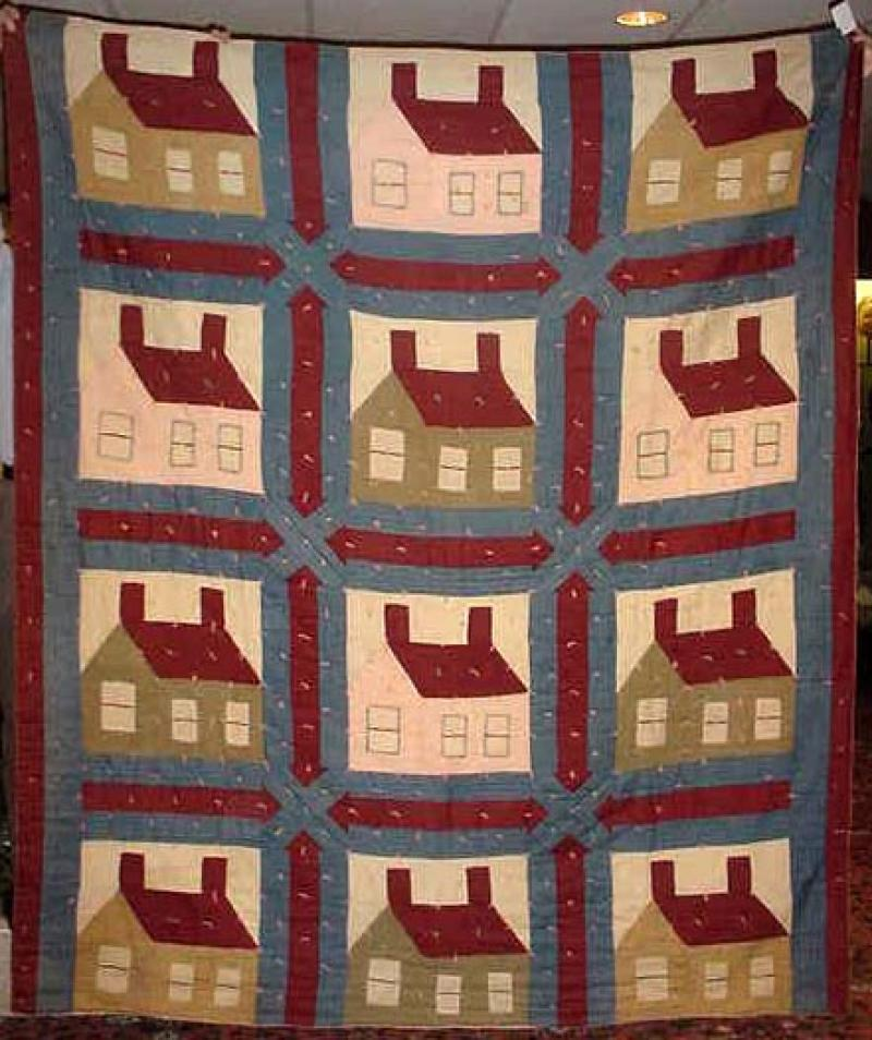 'THIS OLD HOUSE' ANTIQUE QUILT