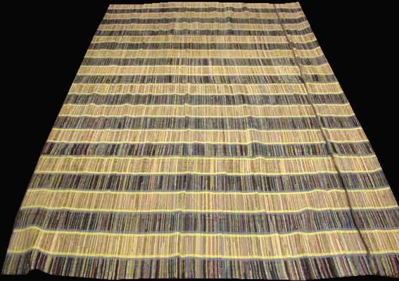 RAG CARPET ANTIQUE RUG, striped, one of many room size