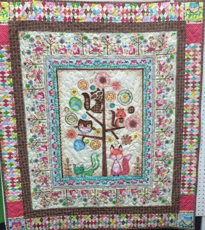 Friendly Forest Quilt 46x 53