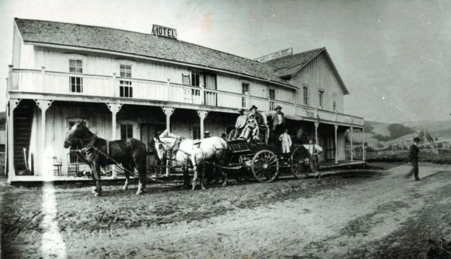 Hot Sulphur Springs McQueary House Hotel and Stage Stop - date unknown