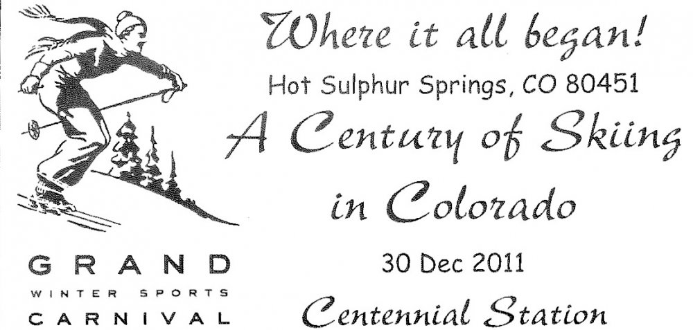 Grand Wintekr Sports Carnival Cancellation Stamp - Hot Sulphur Springs