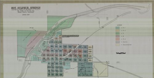 Hot Sulphur Springs Zoning Map