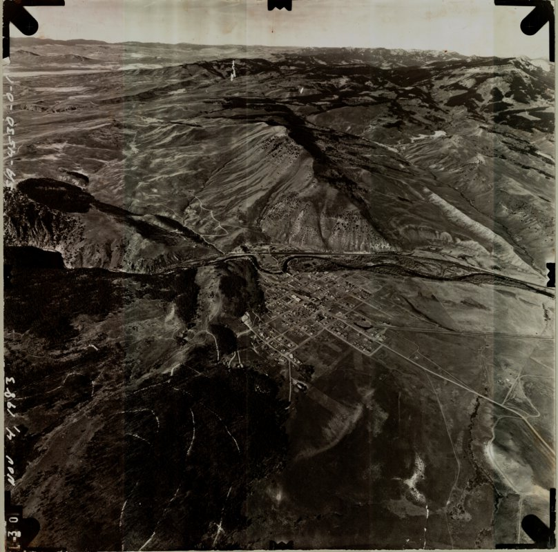 Hot Sulphur Springs aerial northwest view - 1983