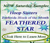 Hoop Sisters Feathered Star Block of the Month 2013